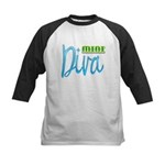 Mini Diva Kids Baseball Jersey