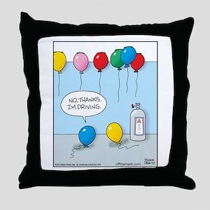 Hellium Balloon Driver Throw Pillow
