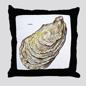 Oyster Sea Life Throw Pillow