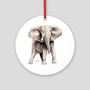 Elephant Animal Ornament (Round)