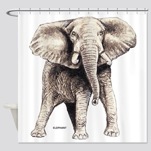 Elephant Animal Shower Curtain