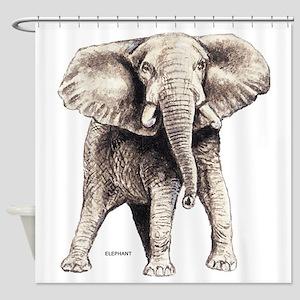 Elephant Animal Shower Curtain