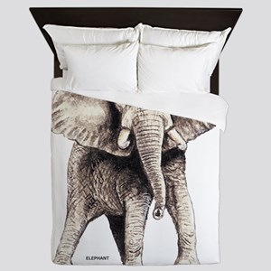 Elephant Animal Queen Duvet