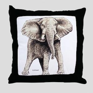 Elephant Animal Throw Pillow
