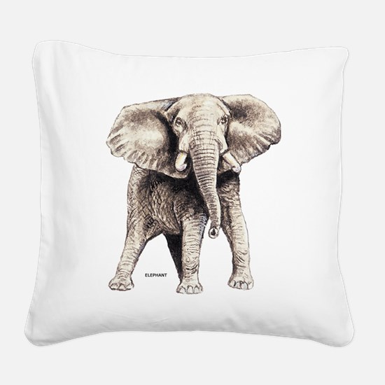 Elephant Animal Square Canvas Pillow