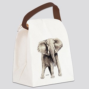 Elephant Animal Canvas Lunch Bag