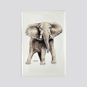 Elephant Animal Rectangle Magnet
