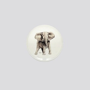 Elephant Animal Mini Button
