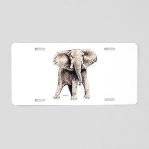 Elephant Animal Aluminum License Plate