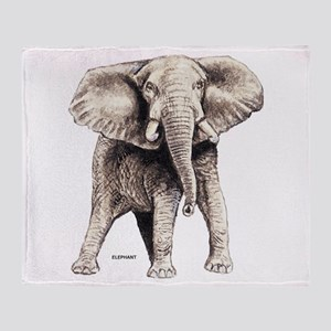 Elephant Animal Throw Blanket