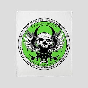 Zombie Response Unit Throw Blanket