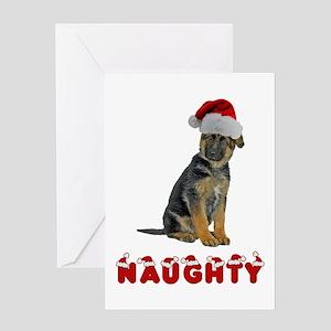 Naughty German Shepherd Greeting Card