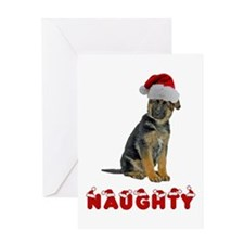 Naughty German Shepherd Greeting Card