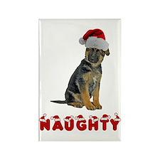 Naughty German Shepherd Rectangle Magnet