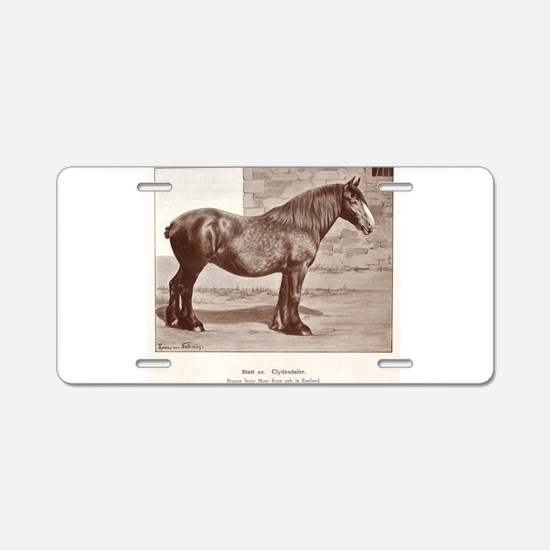Clydesdale Drawing Aluminum License Plate