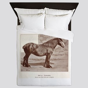 Clydesdale Drawing Queen Duvet
