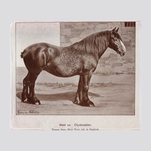 Clydesdale Drawing Throw Blanket