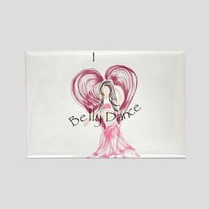 I Heart Belly Dance Rectangle Magnet