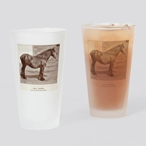 Clydesdale Drawing Drinking Glass