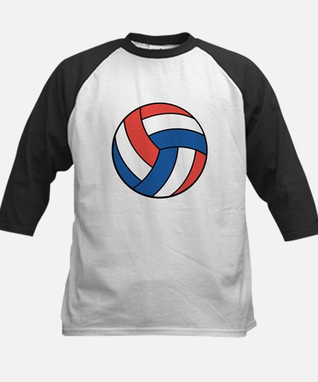 Red, White and Blue Volleyball Kids Baseball Jerse