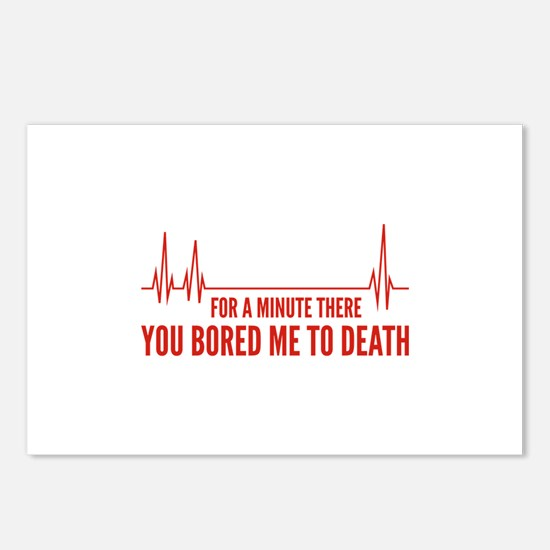You Bored Me To Death Postcards (Package of 8)