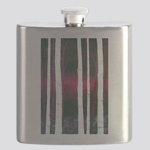 White Trees on Red Flask