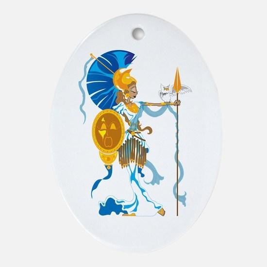 Athena Ornament (Oval)
