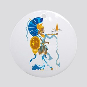 Athena Ornament (Round)