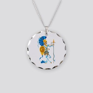 Athena Necklace Circle Charm