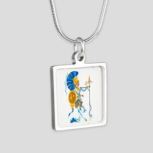 Athena Silver Square Necklace