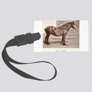 Clydesdale Drawing Luggage Tag