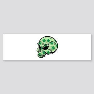 Irish Lucky Skull Sticker (Bumper)