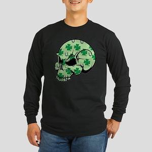 Irish Lucky Skull Long Sleeve Dark T-Shirt