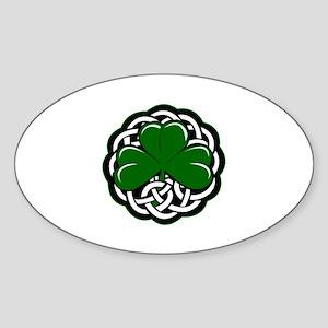 Shamrock Sticker (Oval)