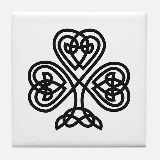 Celtic Shamrock Tile Coaster