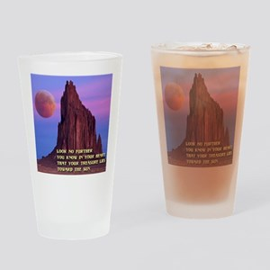 Red Moon at Shiprock, NM Drinking Glass