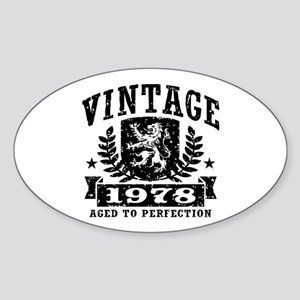 Vintage 1978 Sticker (Oval)