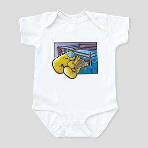 BOXING GLOVES AND RING Infant Bodysuit