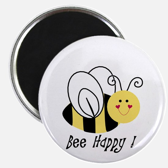 "Bee Happy 2.25"" Magnet (10 pack)"