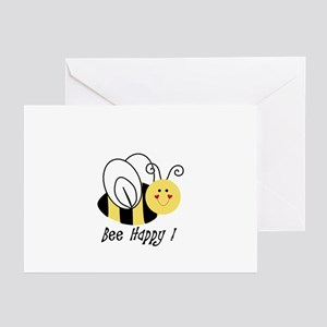 Bee sayings greeting cards cafepress bee happy greeting cards pk of 10 m4hsunfo