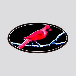 Red Cardinal on Branch Patches