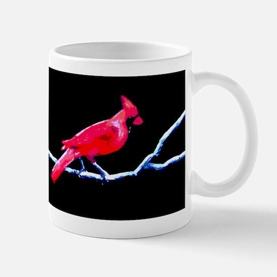 Red Cardinal on Branch Mug