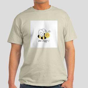 Bee Happy Ash Grey T-Shirt