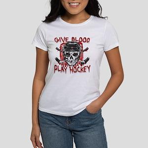 Give Blood Hockey Black Women's T-Shirt