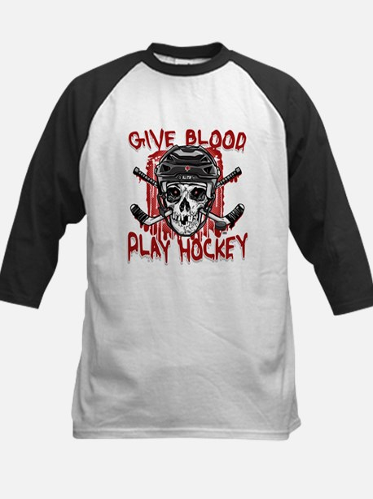 Give Blood Hockey Black Kids Baseball Jersey