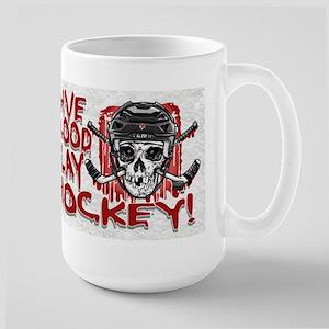Give Blood Hockey Black Large Mug
