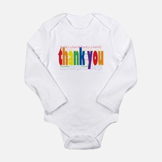Thank You Greeting Card Long Sleeve Infant Bodysui