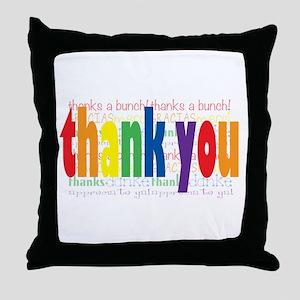 Thank You Greeting Card Throw Pillow