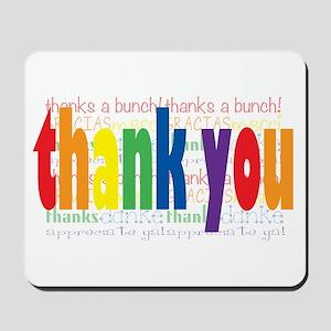 Thank You Greeting Card Mousepad