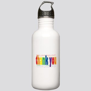 Thank You Greeting Card Stainless Water Bottle 1.0